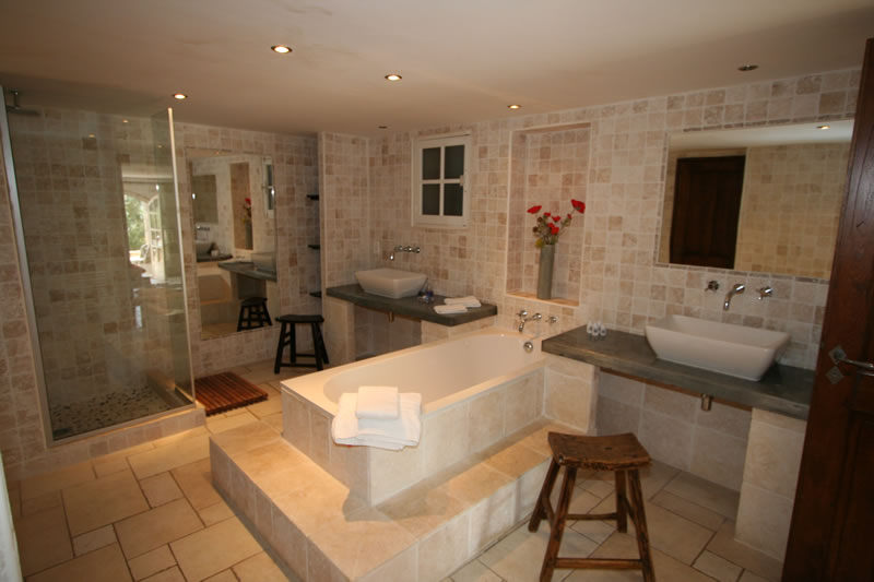 West Suite ensuite bathroom  La Bastide a luxury French villa for rent by  owner in. Ensuite Bathroom